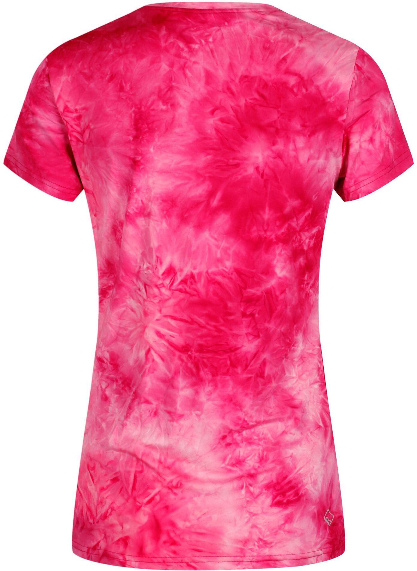 Regatta Fingal Iv Ss T Shirt Women Neon Pink Tie Dye Campz At